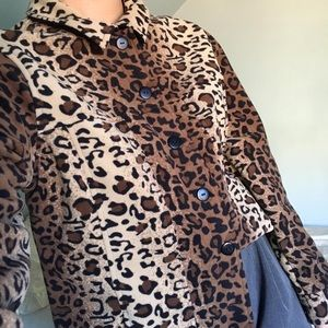 Leopard Fleece Shacket